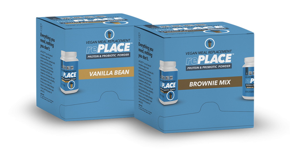 replace-2box all-natural complete vegan protein:fiber shake